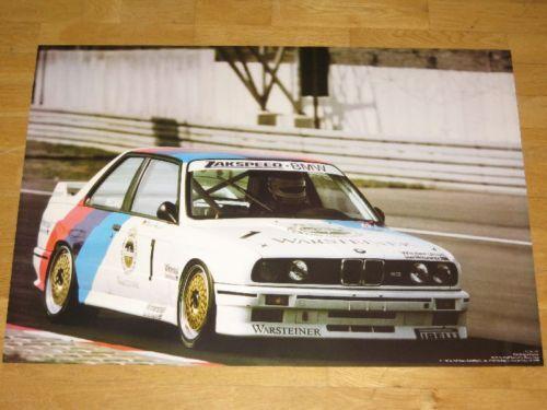 Original Vintage en Menta BMW M3 E30 Us Póster 30 Warsteiner Coche Turismo