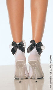 Leg-Avenue-Sexy-Rufflt-Top-Ankle-Socks-with-Satin-Bow-3029