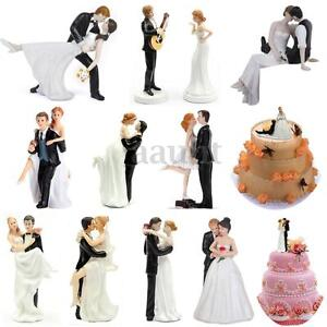 Romantic funny wedding cake toppers figure bride groom couple image is loading romantic funny wedding cake toppers figure bride amp junglespirit Choice Image