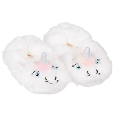 Ladies Womens Fluffy Unicorn Style Slipper Socks Lounge Footwear Multicolour
