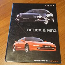 FOLLETO de MR2 De Toyota Celica y