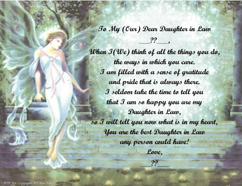 See all styles Personalized Poem Gift for that Special Daughter in Law