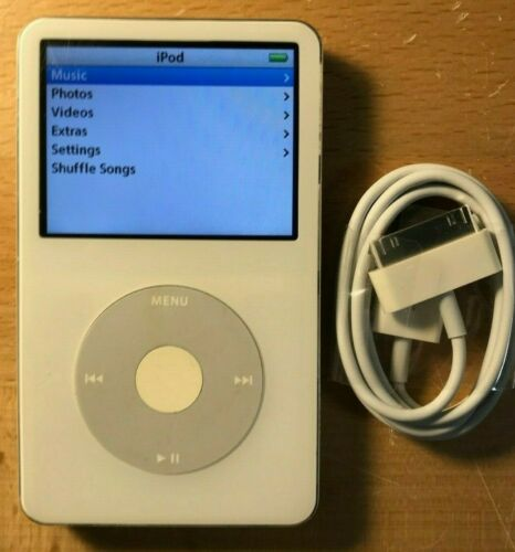 128GB iPod Video Classic 5th Gen White Wolfson DAC SD Card New Battery SSD 120