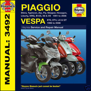 piaggio sfera typhoon zip 50 80 125 x9 x8 scooters 1991 2006 haynes rh ebay com au Piaggio Vespa LX 125 Piaggio Typhoon 125 Accessories