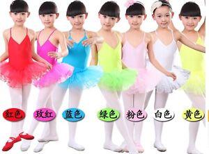 UK-Stock-Pretty-Girls-Dress-Leotard-Lycra-Ballet-Tutu-Costume-Dance-Dress-2075
