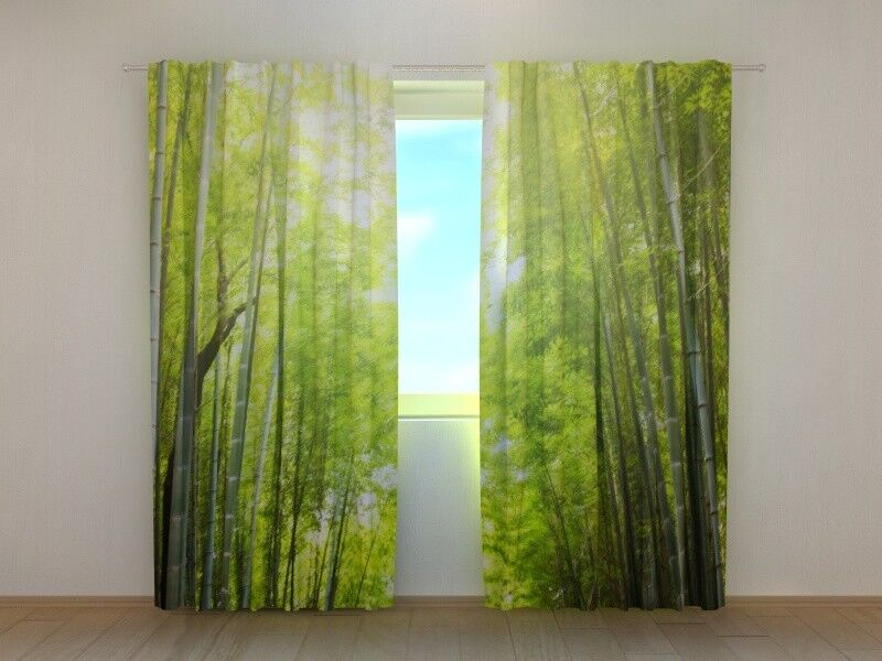 Fotogardinen  Bambus  Fotovorhang Vorhang Gardinen Gardinen Gardinen 3D Qualität Bild, Nach Maß | Üppiges Design  fa94cf