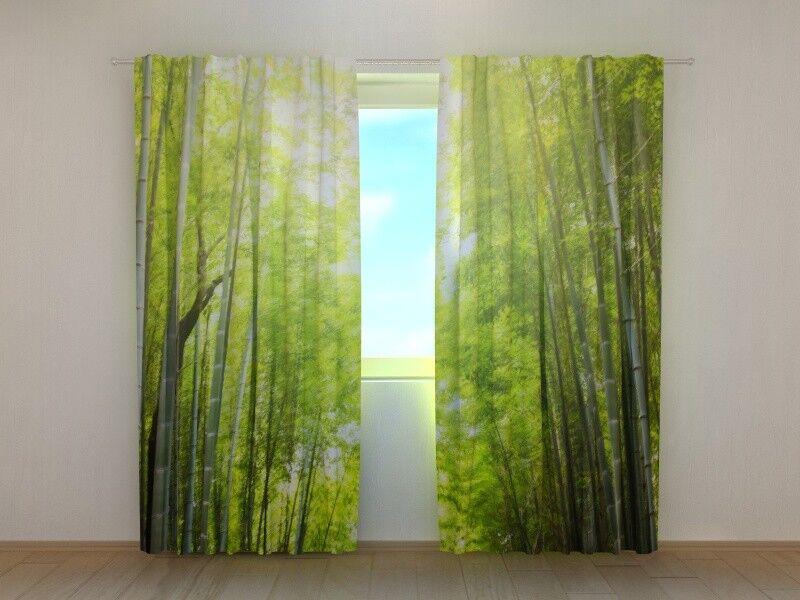 Fotogardinen  Bambus Bambus Bambus  Fotovorhang Vorhang Gardinen 3D Qualität Bild, Nach Maß | Üppiges Design  968b54