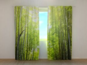 "Curtains, Drapes & Valances Fotogardinen ""bambus"" Fotovorhang Vorhang Gardinen 3d Qualität Bild Nach Maß"