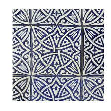 Handbemalte Fliese Fes 15x15 Marokko Handarbeit Orientalische Arabische Deko