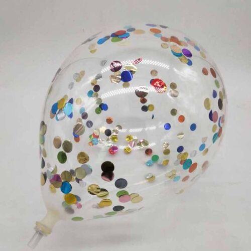 12 inch 10color foil confetti latex balloon helium wedding birthday party dec FG