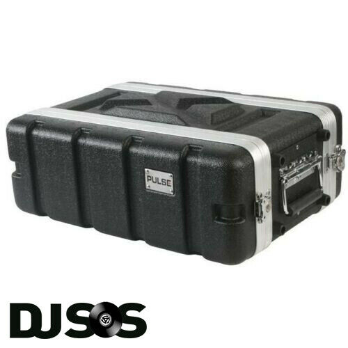 Pulse - ABS-3US Rack Flightcase - 3U SHALLOW DJ Gear Case Carry Carrying Flight