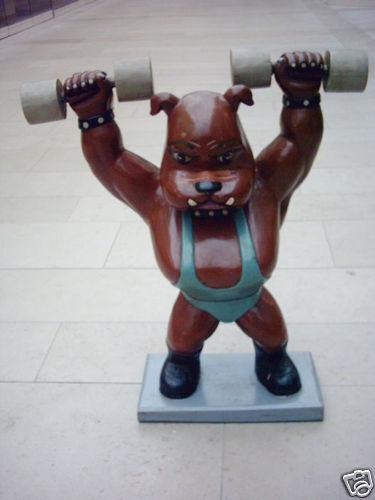 Fitnessfigur hantelhund Fitness Figure Decoration höhe70cm