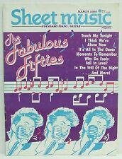 The Fabulous Fifties Sheet Music Magazine Piano Guitar March 1988 Very Rare!!