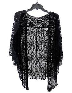 Womens-Plus-Size-3X-Black-Lace-Cardigan-Bolero-Shrug-Top-WearOrGoBare