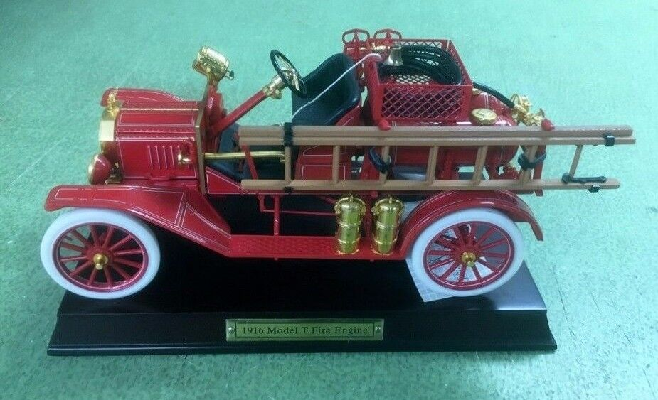 Franklin Mint 1916 Ford Model T Fire Engine 1 16 Die Cast