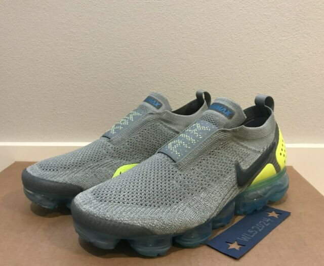 the latest 306ec bceaf Nike Air Vapormax Flyknit MOC 2 Mica Green Volt Neo Turquoise Blueah7006 300