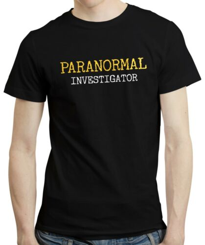 Paranormal Investigator Ghost Hunter Haunted Gift Spirits Mens T-shirt Tshirt