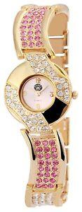 Damenuhr-Gold-Silber-Analog-Metall-Armbanduhr-Strass-D-60356119429599