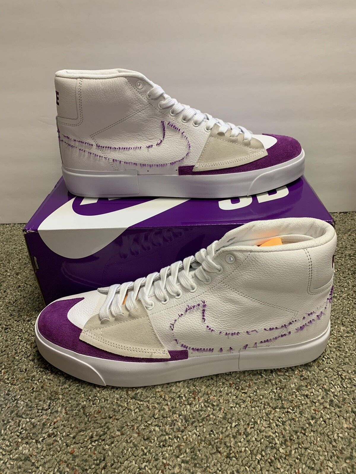 Size 12 - Nike SB Blazer Mid Edge Lakers for sale online | eBay