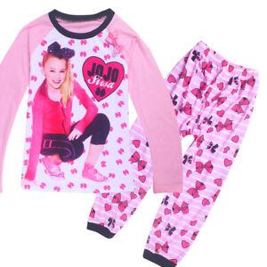 Image is loading JoJo-Siwa-Kids-Girl-Pyjamas-Casual-Cartoon-Nightwear- 957cdd1c1