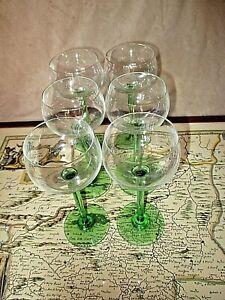 serie-de-6-anciens-verres-a-vin-vintage-1960-d-039-Alsace-sur-pieds