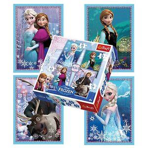 Trefl 4 In 1 35 + 48 + 54 + 70 Piece Girls Kids Anna Elsa Frozen Jigsaw Puzzle 5900511342109