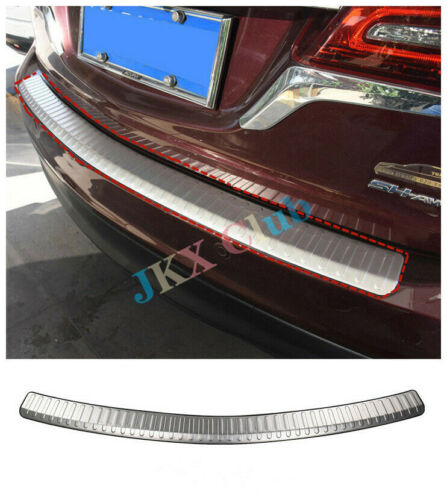 Stainless Trunk Outer Rear Bumper Plate Cover Trim j FOR Acura MDX 2014-2016