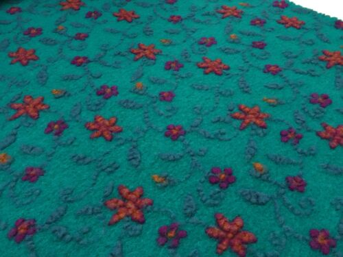 musterwalk WALKLODEN Koch lana relief flores turquesa azul naranja Pink Sustancia Ital