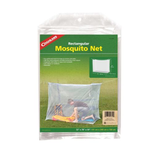 Coghlan/'s Mosquito Net Rectangular White Bug//Insect Netting Single 180 Fine Mesh