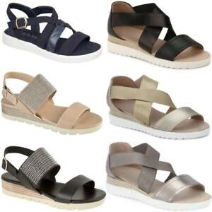 5b51d910d2e Details about Ladies Womens Low Wedge Heel Cross Over Strappy Gladiator  Sandals Summer Shoes