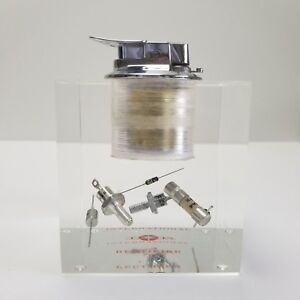 Lucite-Lighter-Paperweight-International-Rectifier-Circuit-Power-Transistor