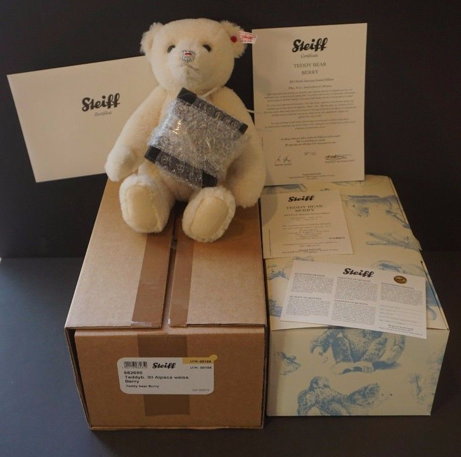 Steiff Berry Teddy Bear 2013 NIB 12 -EAN 682650- Alpaca- L.E. 166 1500 - Growler