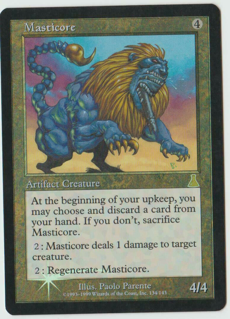 ►Magic-Style◄ Carte MTG - Masticore - FOIL - Urza's Destiny - NM-
