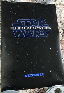 Original Star Wars The Rise Of Skywalker Ds 27x40 Movie Theater Poster Usa Ver A Ebay