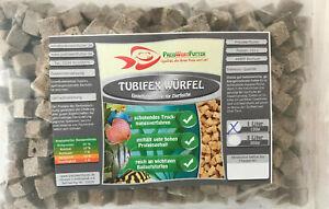 Tubifex-Wuerfel-Bachroehrenwuermer-1Liter-BEUTEL-120g-Fischfutter-Zierfische-FD