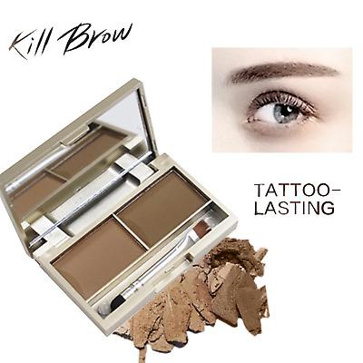 4f41d0ce74e1 Eyebrow Enhancer 2 Colors Waterproof Powder Palette Cosmetic Kit Eye Makeup  | eBay