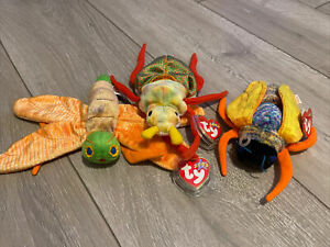 TY Beanie Babies GLOW SCURRY TWITTERBUG Firefly Beetle Cicada Plush Toy Insect