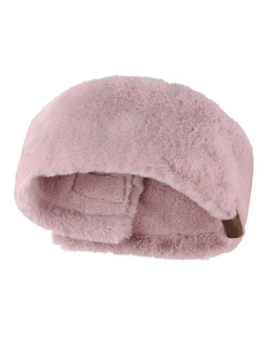 C.C Soft Stretch Winter Warm Cable Knit Fuzzy Lined Ear Warmer CC Headband