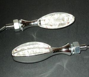 2X-LED-CHROM-KATZENAUGE-BLINKER-HARLEY-VROD-SPORTSTER-DYNA-SOFTAIL-Chopper-SR100