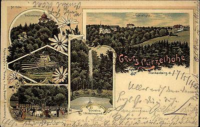 Hindernis Entfernen Streng Frankenberg Sachsen 1900 Lützelhöhe Litho-ak Mit Bahnpost Chemnitz Rosswein Gel Briefmarken