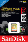 SanDisk Extreme Plus 64 GB SDXC Class 10 Memory Card up to 90 Mbps With U3