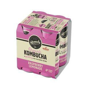 NEW-Remedy-Organic-Kombucha-Sparking-Cultured-Drink-Raspberry-Lemonade-250mL