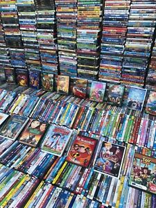 Wholesale Lot Of 100 Assorted Kids,Cartoons,<wbr/>Family DVDs,DVDs Movies,T.V. Shows