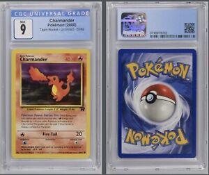 Pokémon Charmander 50/82 CGC 9 Mint 2000 Team Rocket Unlimited