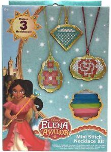 Disney-Channel-Elena-Avalor-Mini-Stitch-Necklace-Kit-w-3-Pendants-Design-Thread