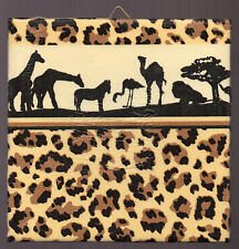 Dekofliese Wandfliese Bildfliese Decoupage Geschenkidee Afrika Safari  (016)