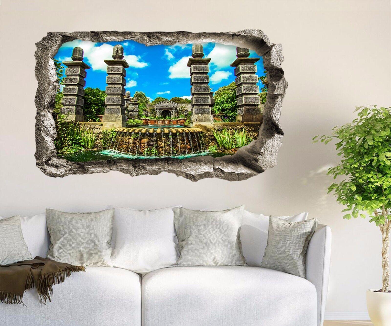 3D Bellissimo Giardino Parete Murales Adesivi Decal Sfondamento AJ WALLPAPER IT