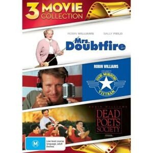 Mrs. Doubtfire / Good Morning Vietnam / Dead Poets Society - 3 Movie Collecti...