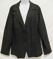 Lane Bryant Venezia Womens 22/24 Plus Size Stretch Blazer Black Jacket Coat