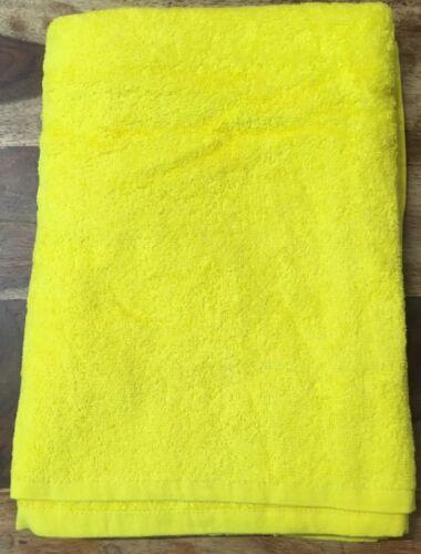 Serviette de bain jaune vif 400 Gsm 100% Coton Égyptien Salon Coiffeurs